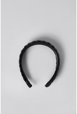 Black Weave Detail Head Band