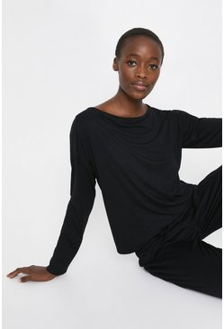 Black Batwing Lounge Top