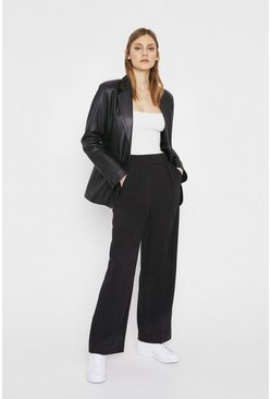 Black Essential Wide Leg Trouser