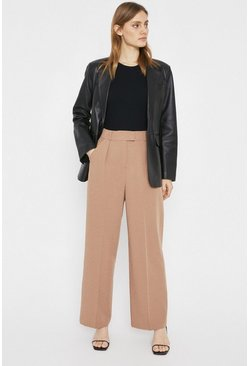 Camel Essential Wide Leg Trouser