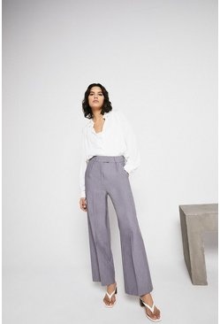 Mid grey Essential Wide Leg Trouser