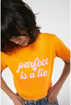 Orange Perfect Is A Lie Tee