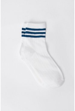 White Sports Socks