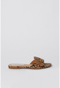 Snake Strap Design Slip On Sandal