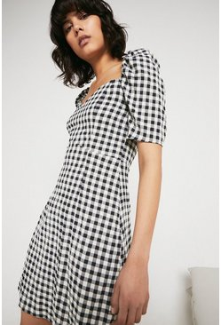Mono Sweetheart Neck Mini Dress
