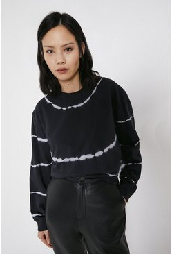 Black Mono Tie Dye Sweat