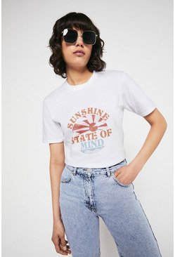 White Sunshine State Of Mind Tee