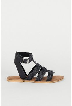 Black Weave Detail Gladiator