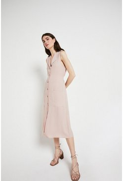 Rose Sleeveless Utility Dress