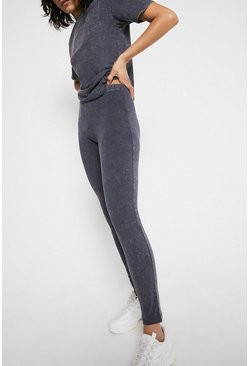 Charcoal Acid Wash Legging