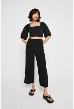 Black Button Tab Wide Crop