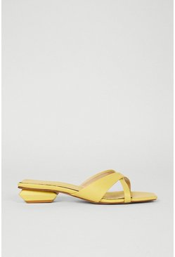 Yellow Asymmetric Slip On Shoe