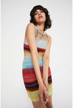 Multi Stripe Racer Short Dress