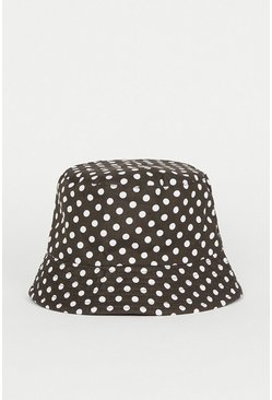 Blackwhite Spot Bucket Hat