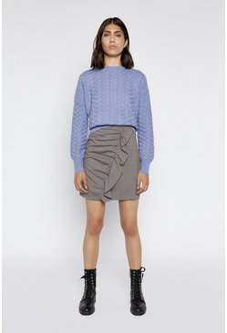 Light blue Soft Stitch Wide Boxy Jumper