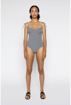 Black Gingham Underwired Swimsuit