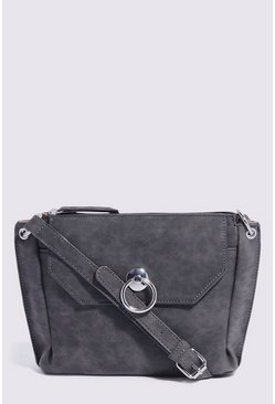 Dark grey Hardware Pocket Crossbody