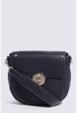 Black Lock Detail Saddle Bag