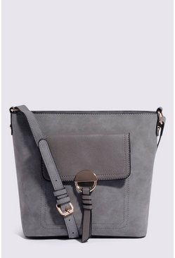 Light grey Pocket Slouchy Crossbody