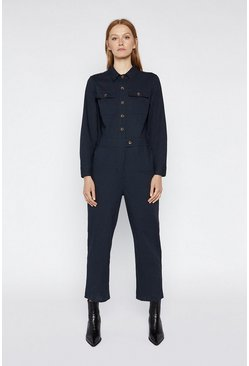 Navy Casual Utility Boilersuit