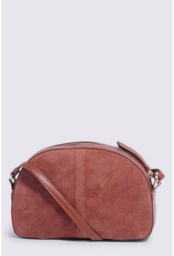 Tan Suede Crossbody