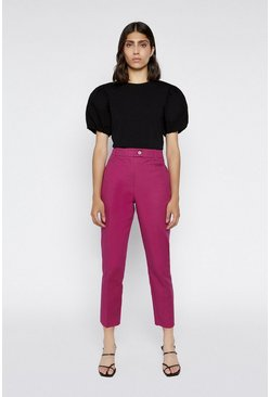 Bright pink Compact Cotton Trousers