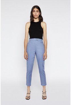 Light blue Compact Cotton Trousers