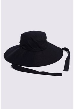Black Oversized Bucket Hat