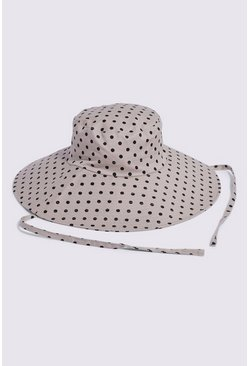 Grey Oversized Bucket Hat