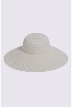 Cream Wide Brim Hat