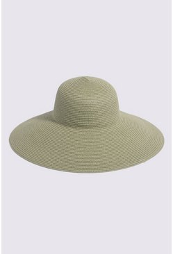 Light green Wide Brim Hat