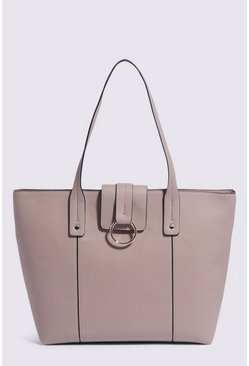 Light grey Hardware Detail Tote
