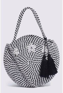 Black Shell Detail Circle Bag