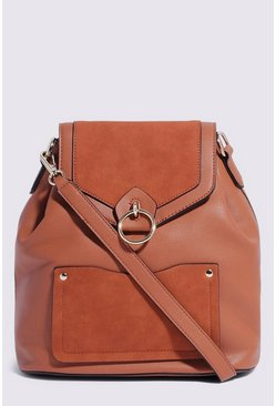 Tan Two Way Backpack