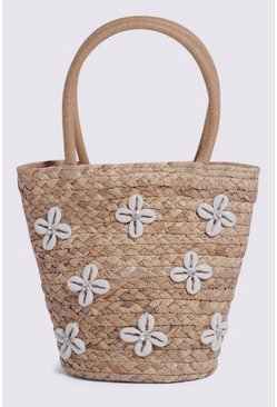 Tan Shell Detail Bucket Bag