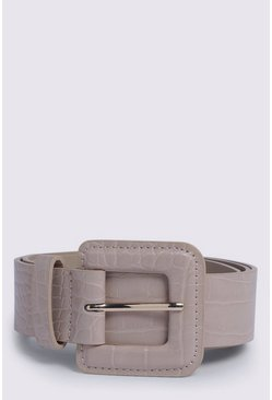 Camel Faux Leather Belt