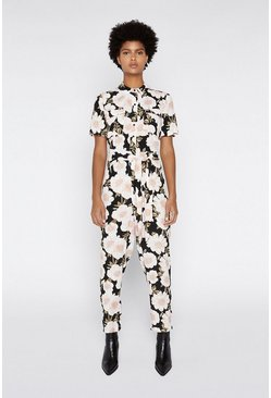 Multi Floral Printed Boilersuit