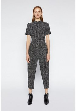Black Printed Boilersuit