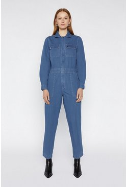 Dark wash Boiler Suit