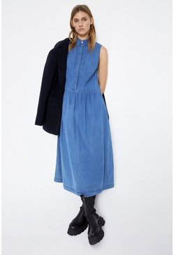 Mid wash Long Drop Hem Dress