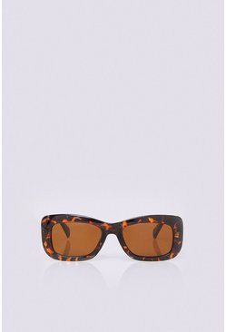 Brown Square Frame Sunglasses