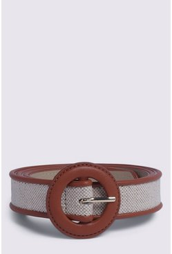Tan Fabric Mix Belt
