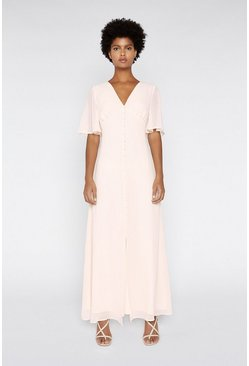 Light pink Angel Sleeve Maxi Dress