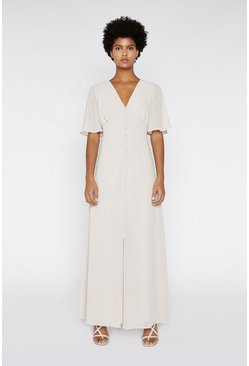 Mink Angel Sleeve Maxi Dress