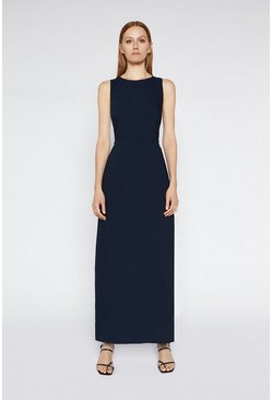 Navy Cross Back Column Dress