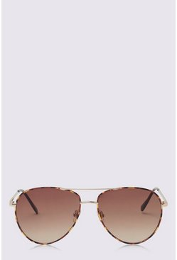 Brown Animal Frame Aviator