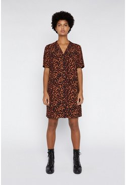 Tan Animal Oversized Dress