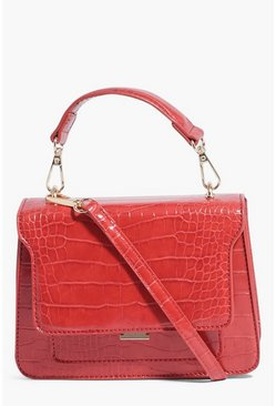 Red Mini Boxy Crossbody
