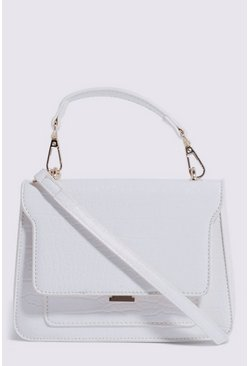 White Mini Boxy Crossbody