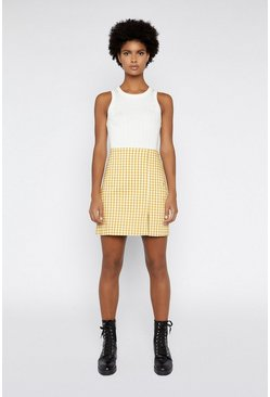 Multi Gingham Pelmet Skirt